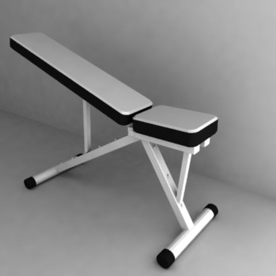 palestra bench3.3ds royalty-free 3d model - Preview no. 1