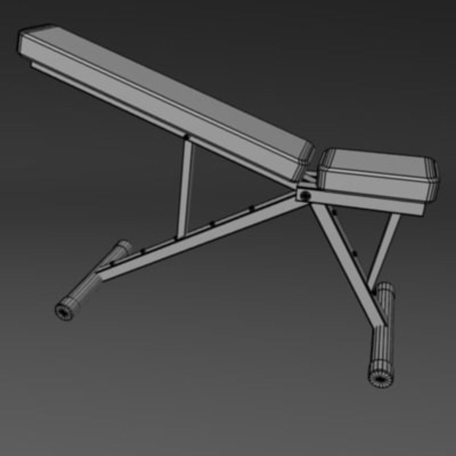 palestra bench3.3ds royalty-free 3d model - Preview no. 3