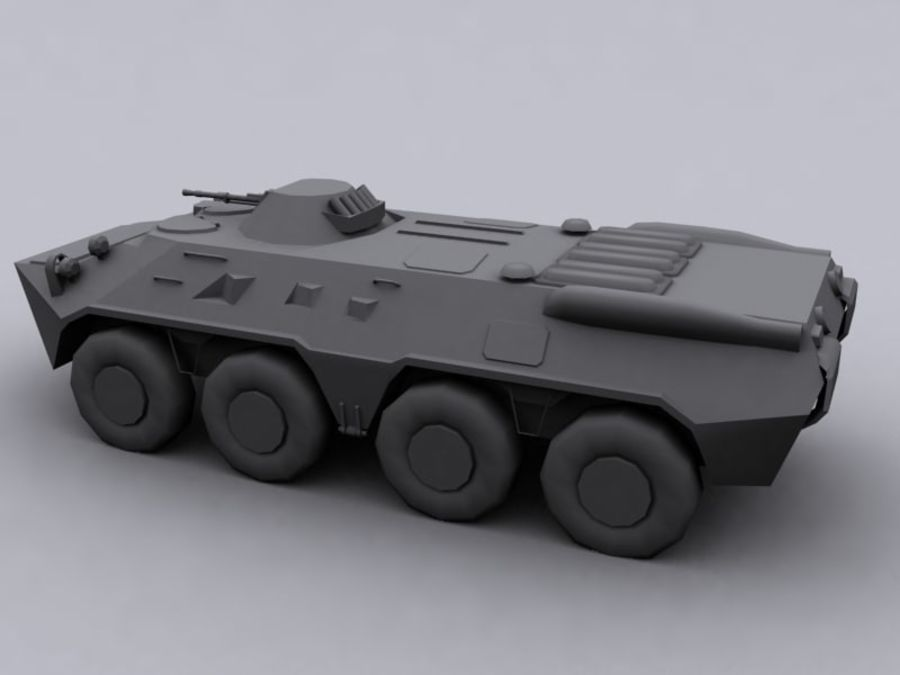BTR 80 Soviet Personel carrier royalty-free 3d model - Preview no. 3