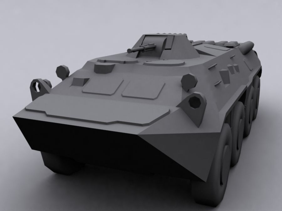 BTR 80 Soviet Personel carrier royalty-free 3d model - Preview no. 1