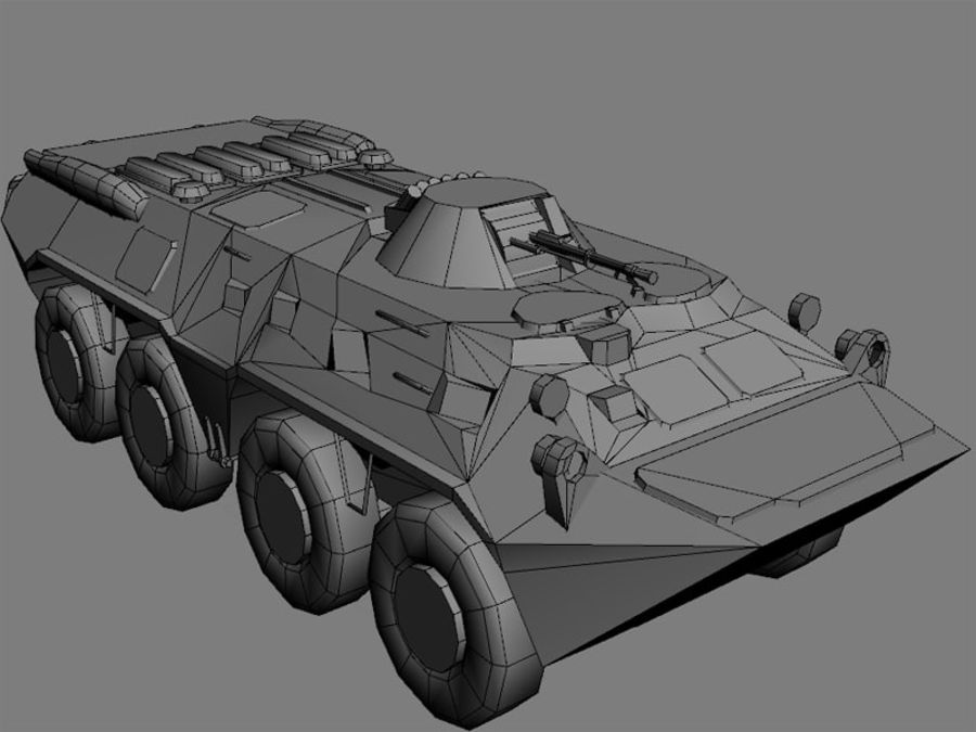 BTR 80 Soviet Personel carrier royalty-free 3d model - Preview no. 4