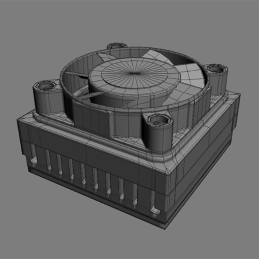 Cpu cooler for Max royalty-free 3d model - Preview no. 3