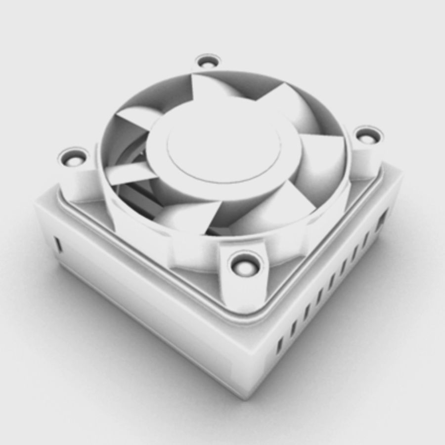 Cpu cooler for Max royalty-free 3d model - Preview no. 2