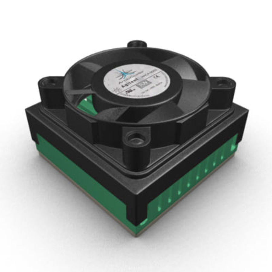 Cpu cooler for Max royalty-free 3d model - Preview no. 1