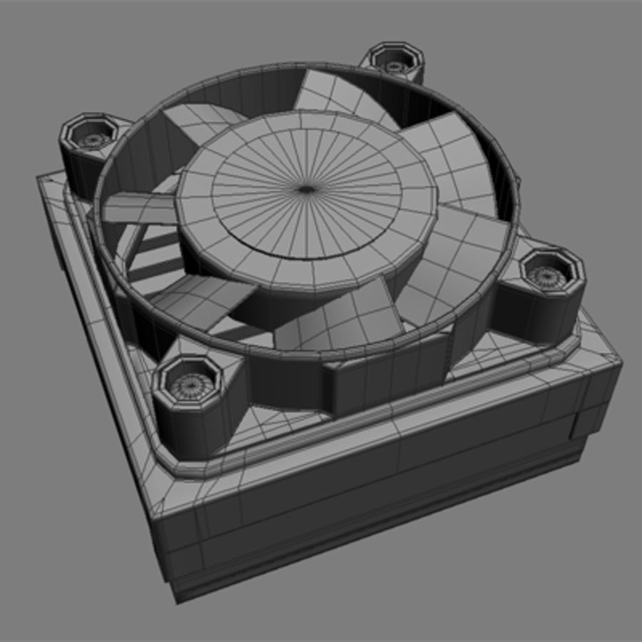 Cpu cooler for Max royalty-free 3d model - Preview no. 5