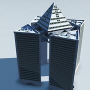immeuble moderne SF 5 3d model