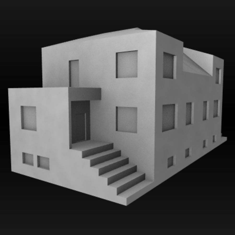 hus royalty-free 3d model - Preview no. 1