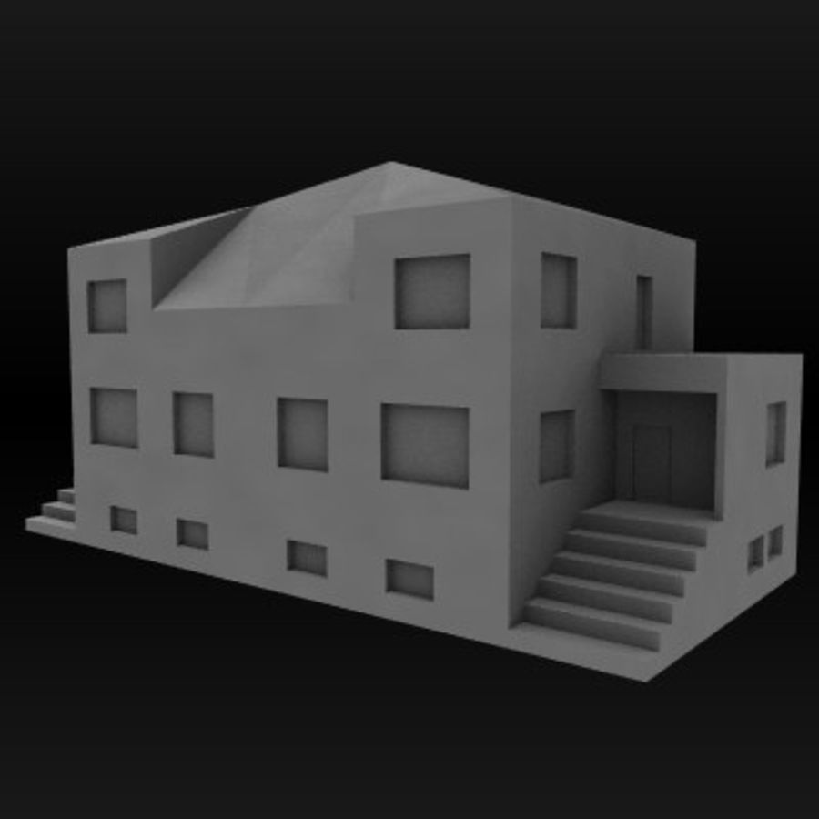 hus royalty-free 3d model - Preview no. 3
