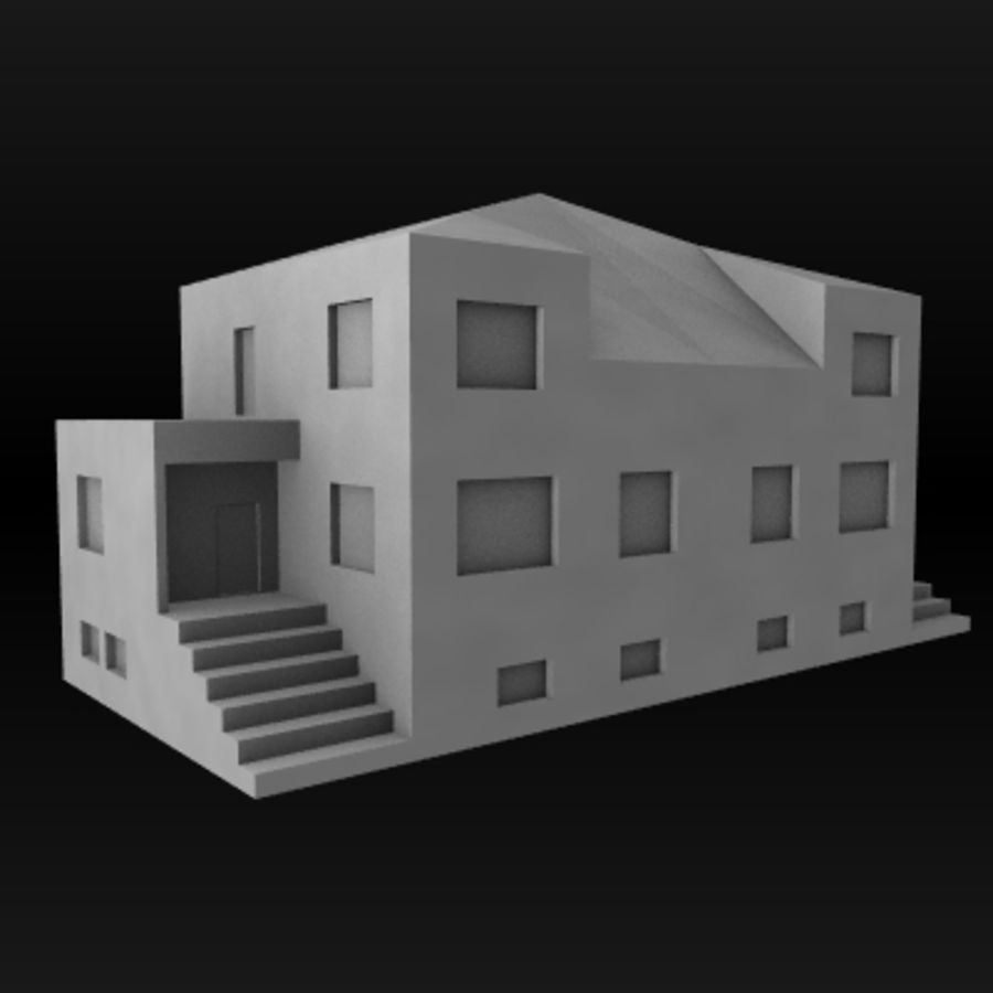 hus royalty-free 3d model - Preview no. 2