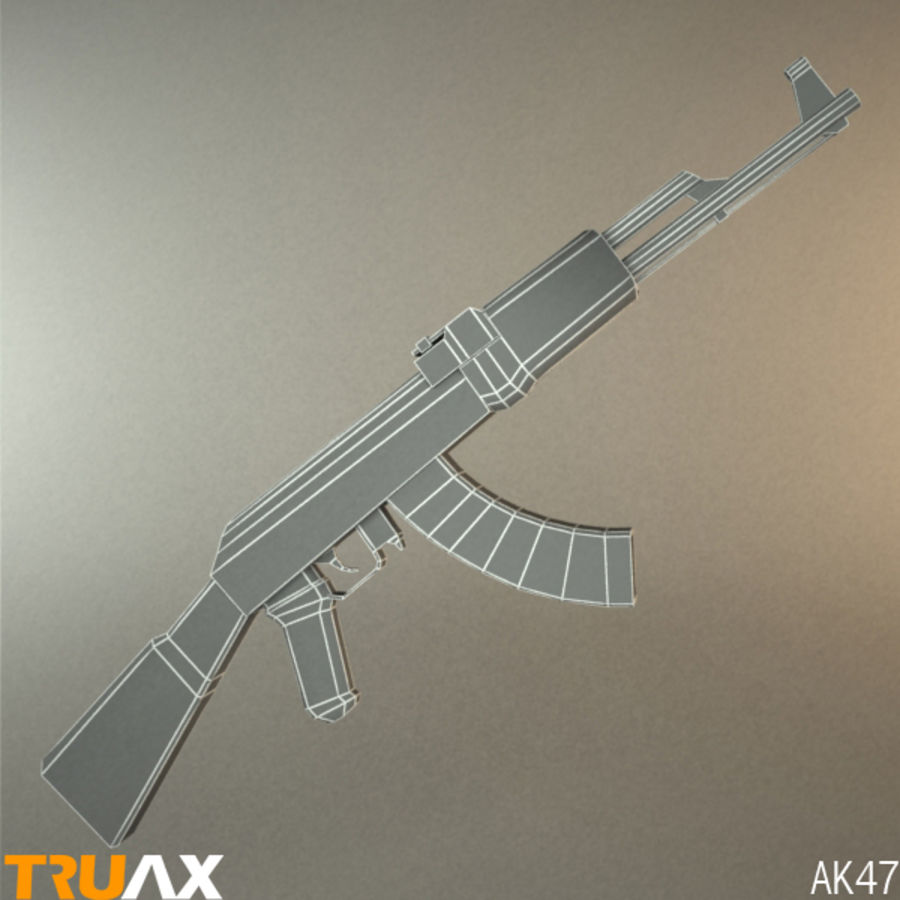 Ak47 royalty-free 3d model - Preview no. 2