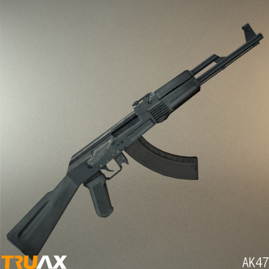 Ak47 royalty-free 3d model - Preview no. 5
