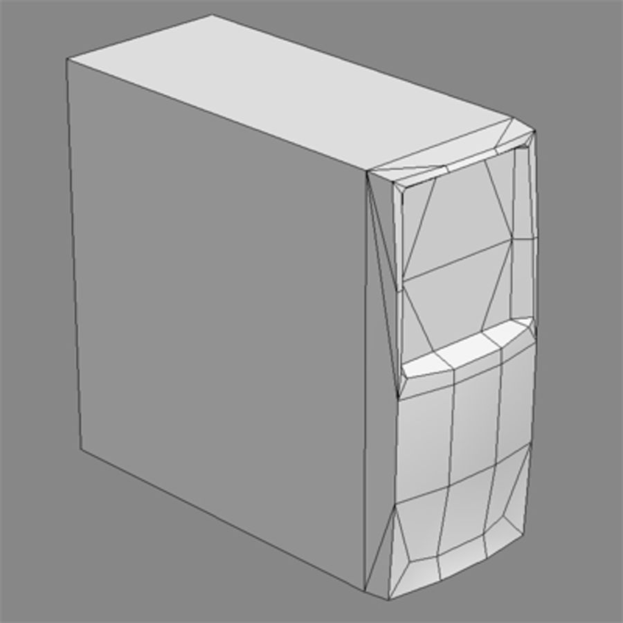 PC_desktop_lowpoly royalty-free 3d model - Preview no. 4