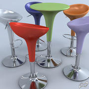 Bombo stool and table 3d model