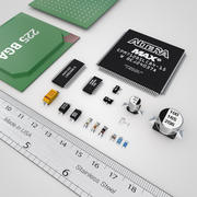 Componentes eletrônicos 3d model