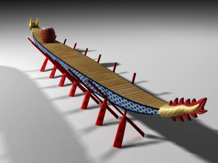 Drachenboot royalty-free 3d model - Preview no. 3