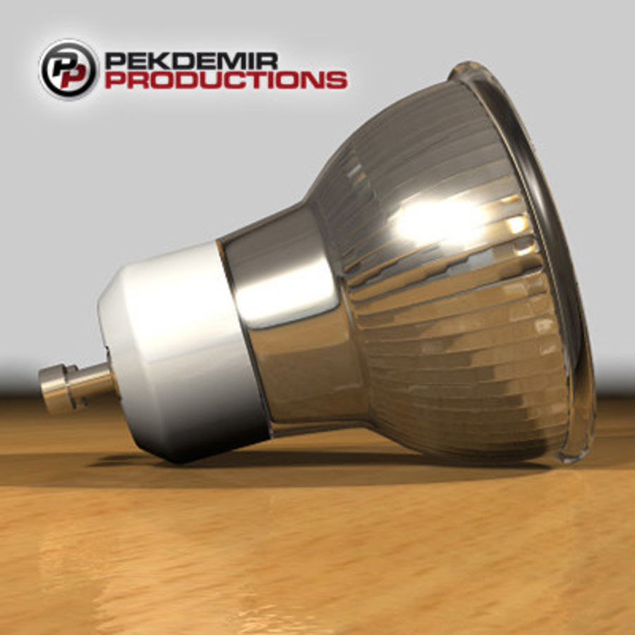 Halogen Lamp / Light Bulb royalty-free 3d model - Preview no. 4