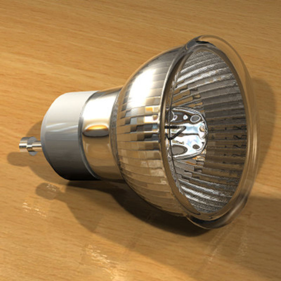Halogen Lamp / Light Bulb royalty-free 3d model - Preview no. 2