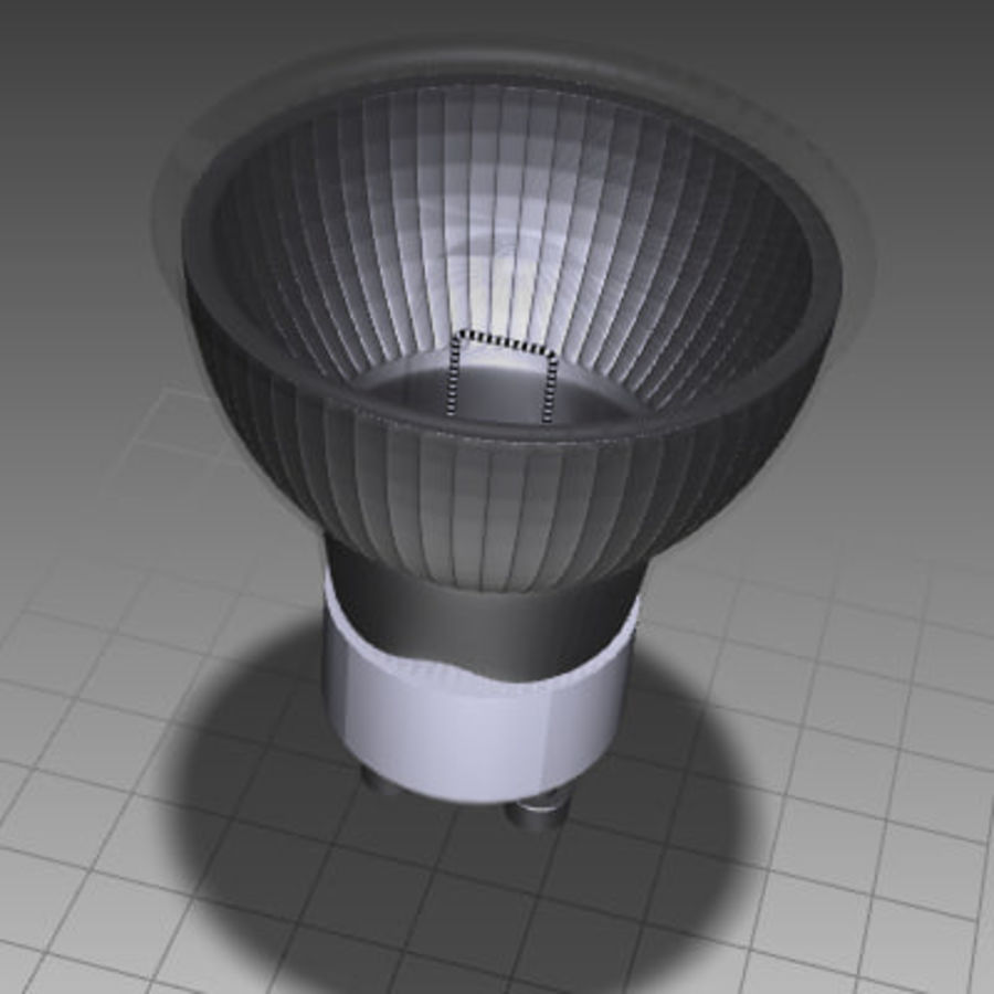Halogen Lamp / Light Bulb royalty-free 3d model - Preview no. 5