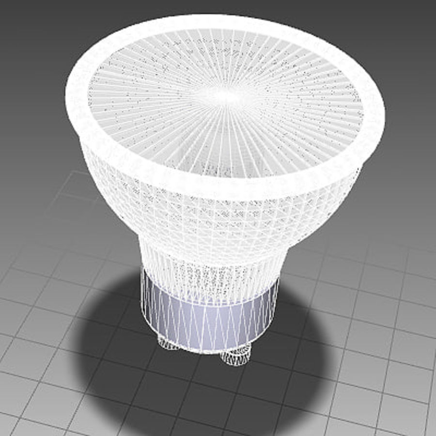 Halogen Lamp / Light Bulb royalty-free 3d model - Preview no. 6