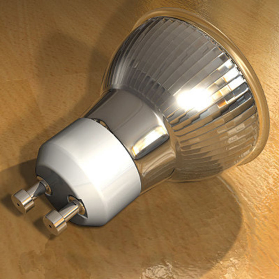 Halogen Lamp / Light Bulb royalty-free 3d model - Preview no. 3