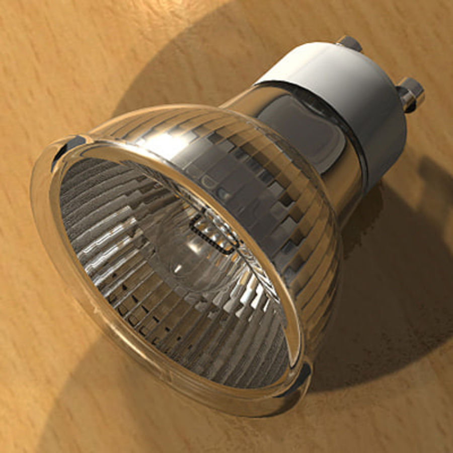 Halogen Lamp / Light Bulb royalty-free 3d model - Preview no. 1