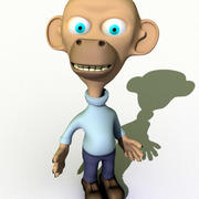 Cartoon Character Monkey 3d model