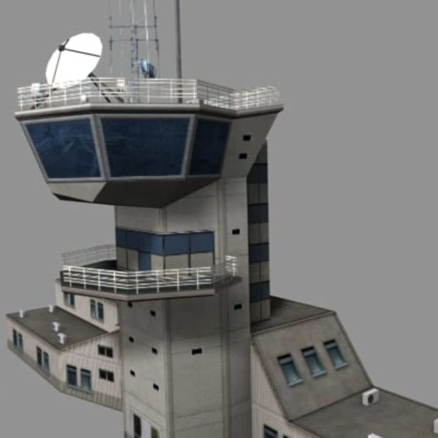 control_tower.zip royalty-free 3d model - Preview no. 7