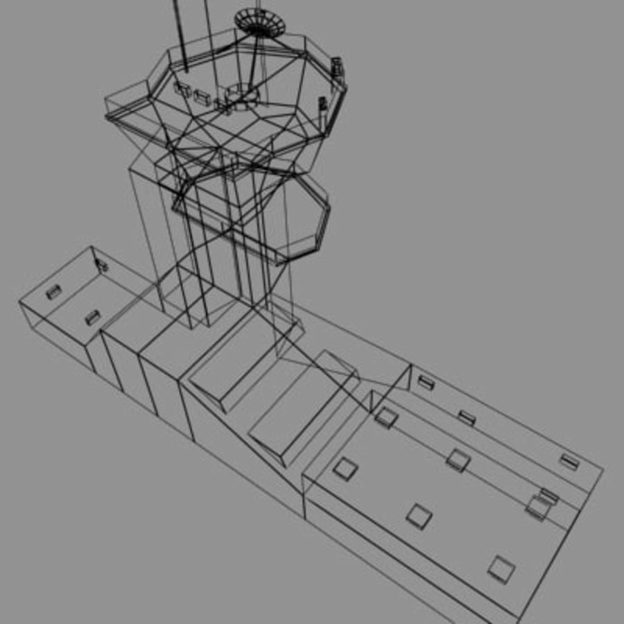 control_tower.zip royalty-free 3d model - Preview no. 9