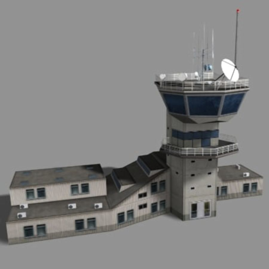 control_tower.zip royalty-free modelo 3d - Preview no. 1