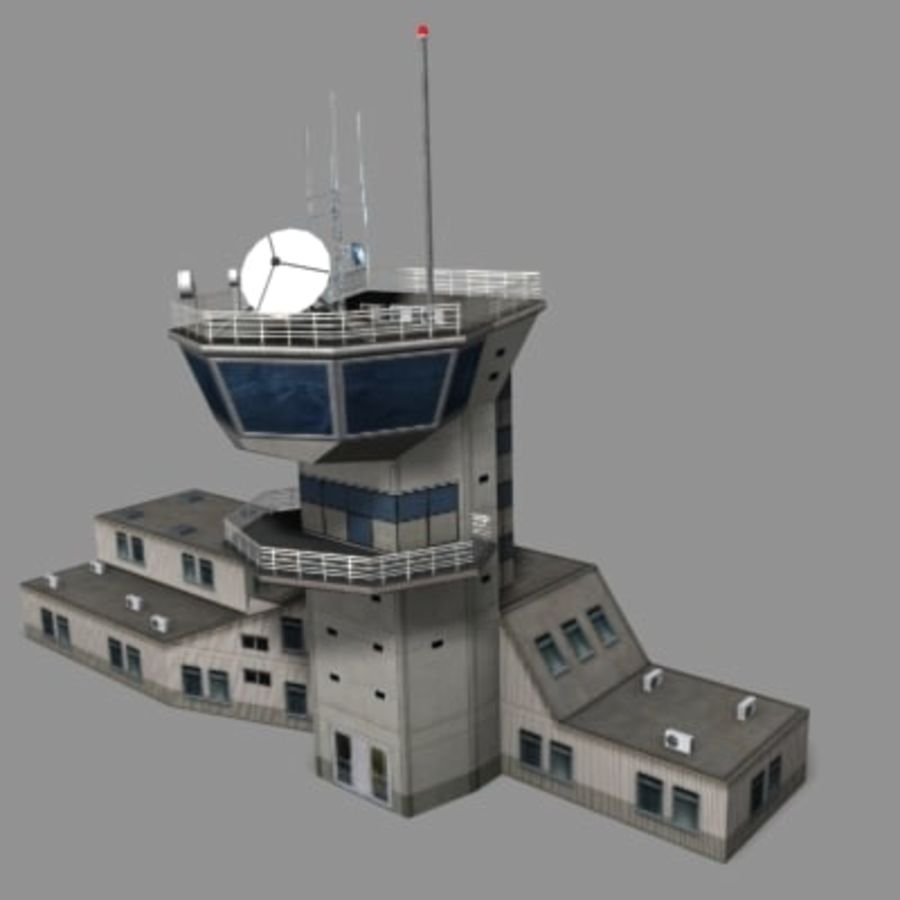 control_tower.zip royalty-free 3d model - Preview no. 2