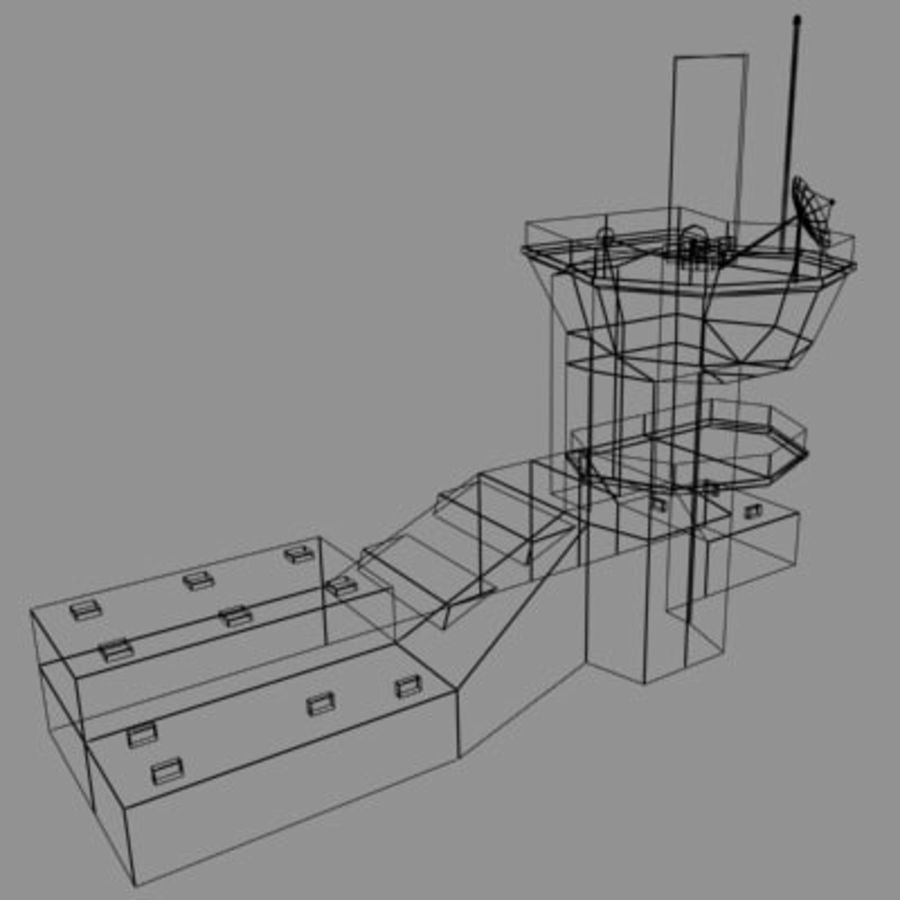 control_tower.zip royalty-free 3d model - Preview no. 8