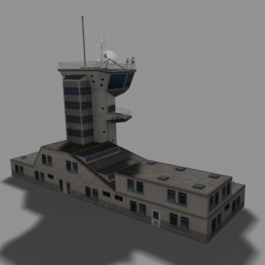 control_tower.zip royalty-free modelo 3d - Preview no. 3