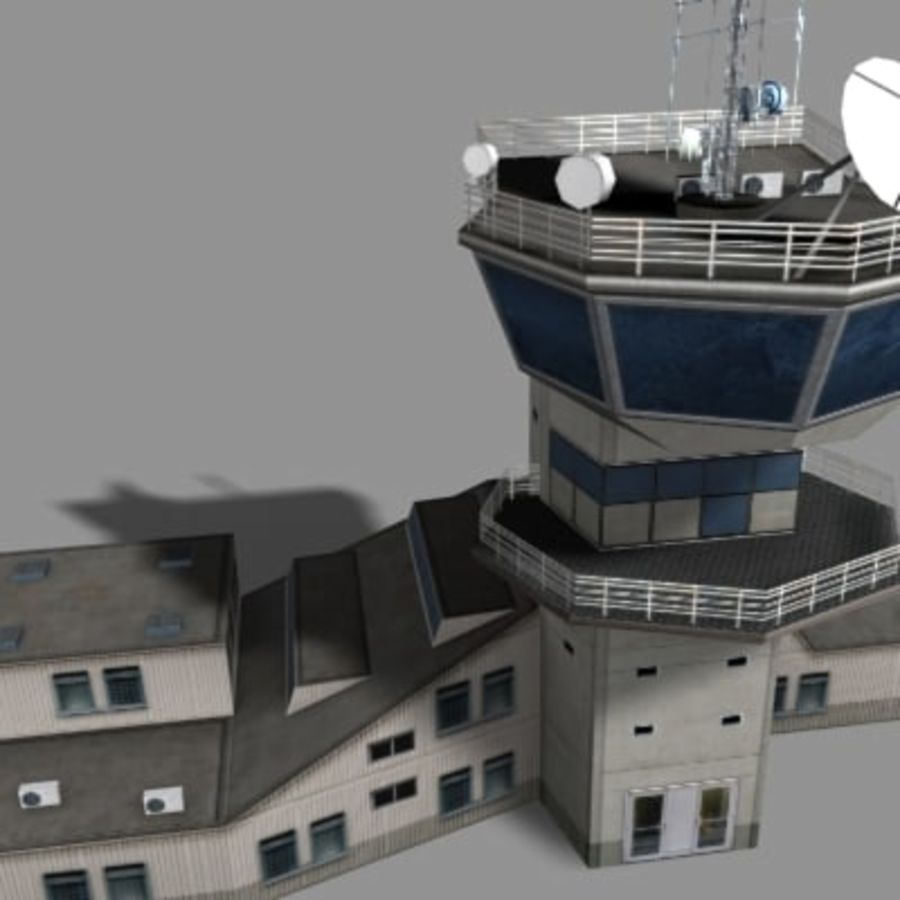 control_tower.zip royalty-free 3d model - Preview no. 5
