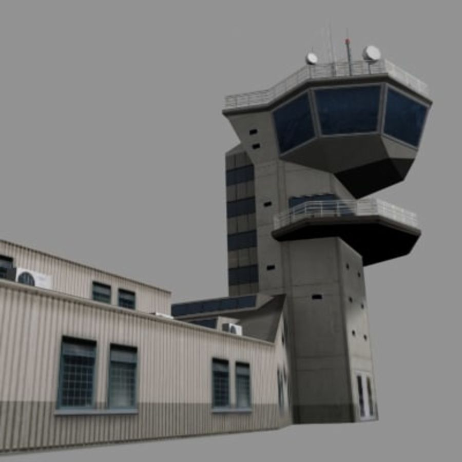 control_tower.zip royalty-free 3d model - Preview no. 6