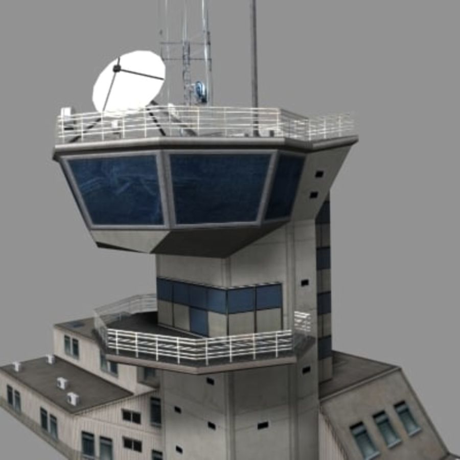 control_tower.zip royalty-free modelo 3d - Preview no. 4