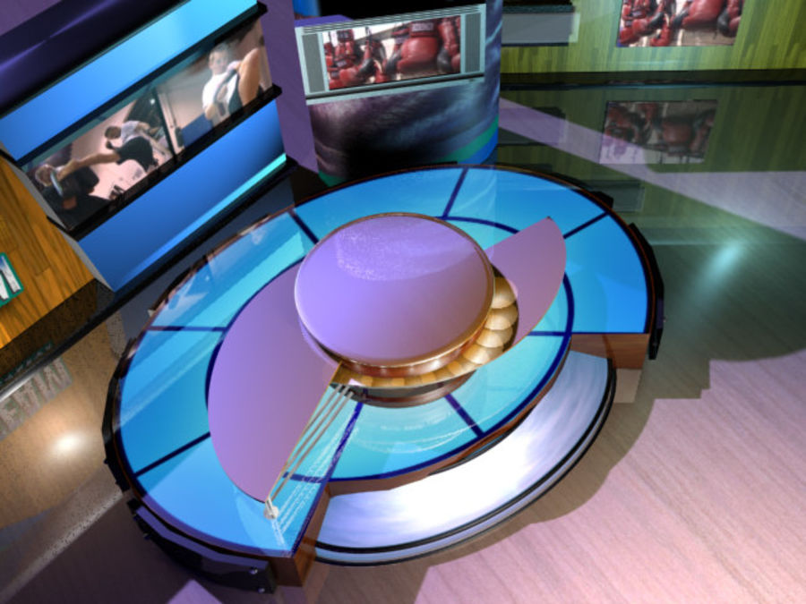 Virtual Television Set.zip royalty-free 3d model - Preview no. 6