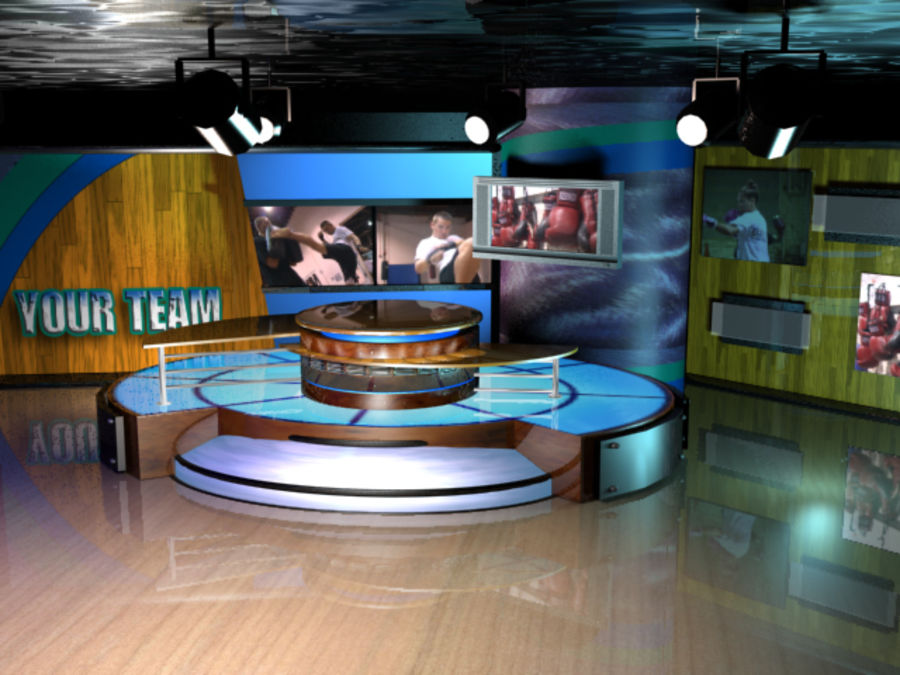 Virtual Television Set.zip royalty-free 3d model - Preview no. 1