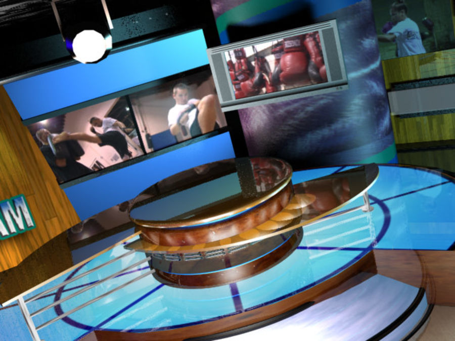 Virtual Television Set.zip royalty-free 3d model - Preview no. 5