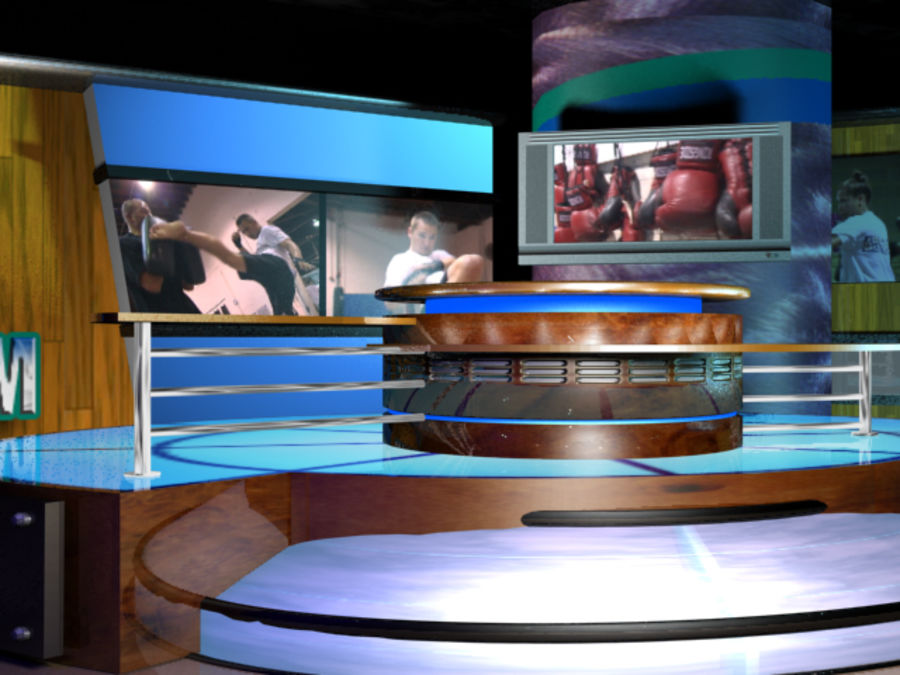 Virtual Television Set.zip royalty-free 3d model - Preview no. 2