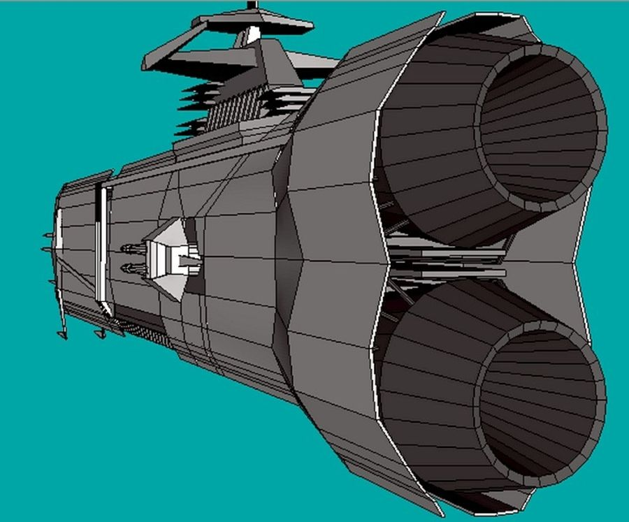 USS Petra Hydra royalty-free 3d model - Preview no. 5