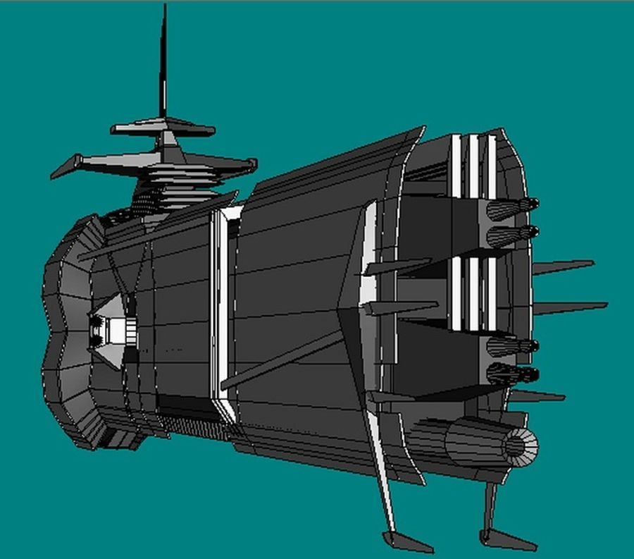 USS Petra Hydra royalty-free 3d model - Preview no. 4