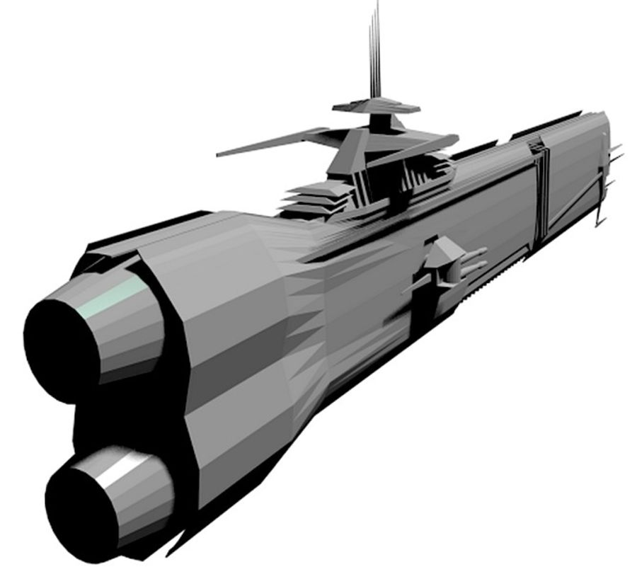 USS Petra Hydra royalty-free 3d model - Preview no. 6
