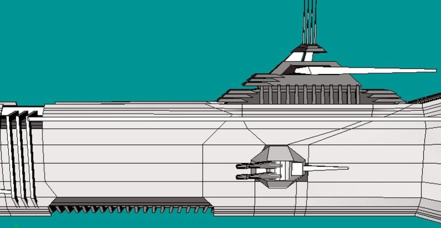 USS Petra Hydra royalty-free 3d model - Preview no. 7