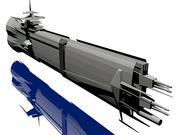 USS Petra Hydra 3d model