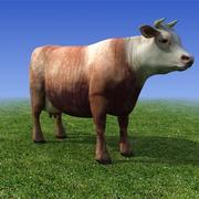 brown Cow 3D Model 3d model