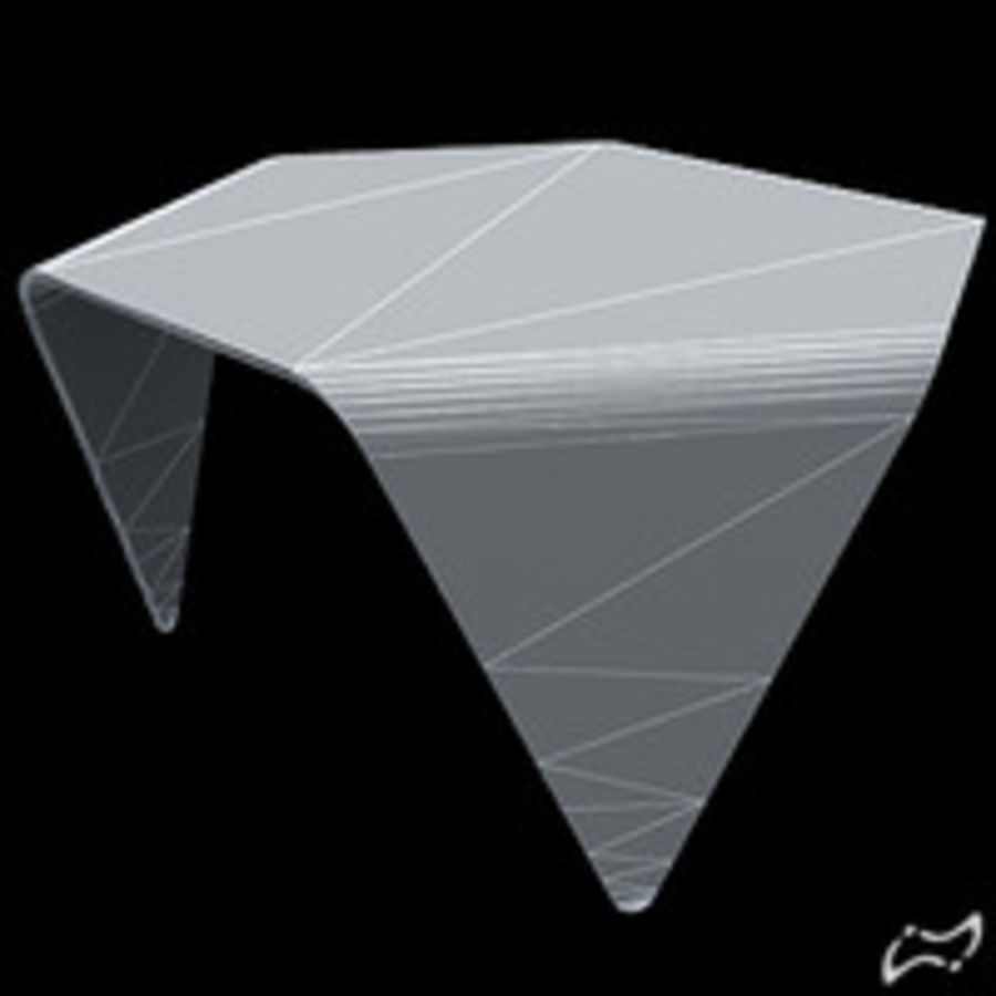 Exagonal table royalty-free 3d model - Preview no. 5