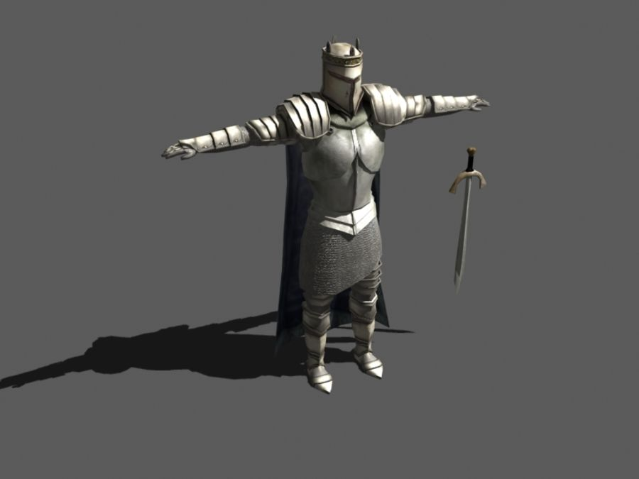 Ritter royalty-free 3d model - Preview no. 1