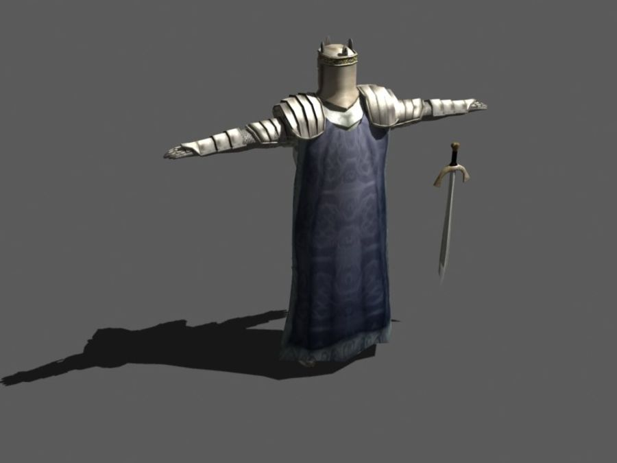 Ritter royalty-free 3d model - Preview no. 3