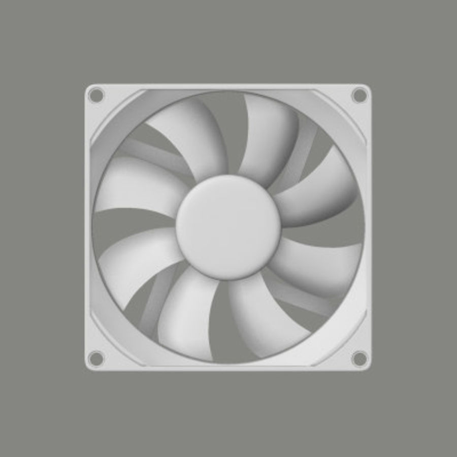 Computer Case Fan royalty-free 3d model - Preview no. 7