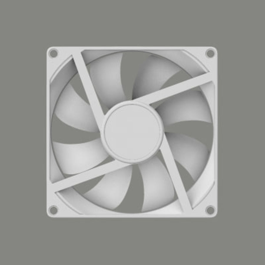 Computer Case Fan royalty-free 3d model - Preview no. 4